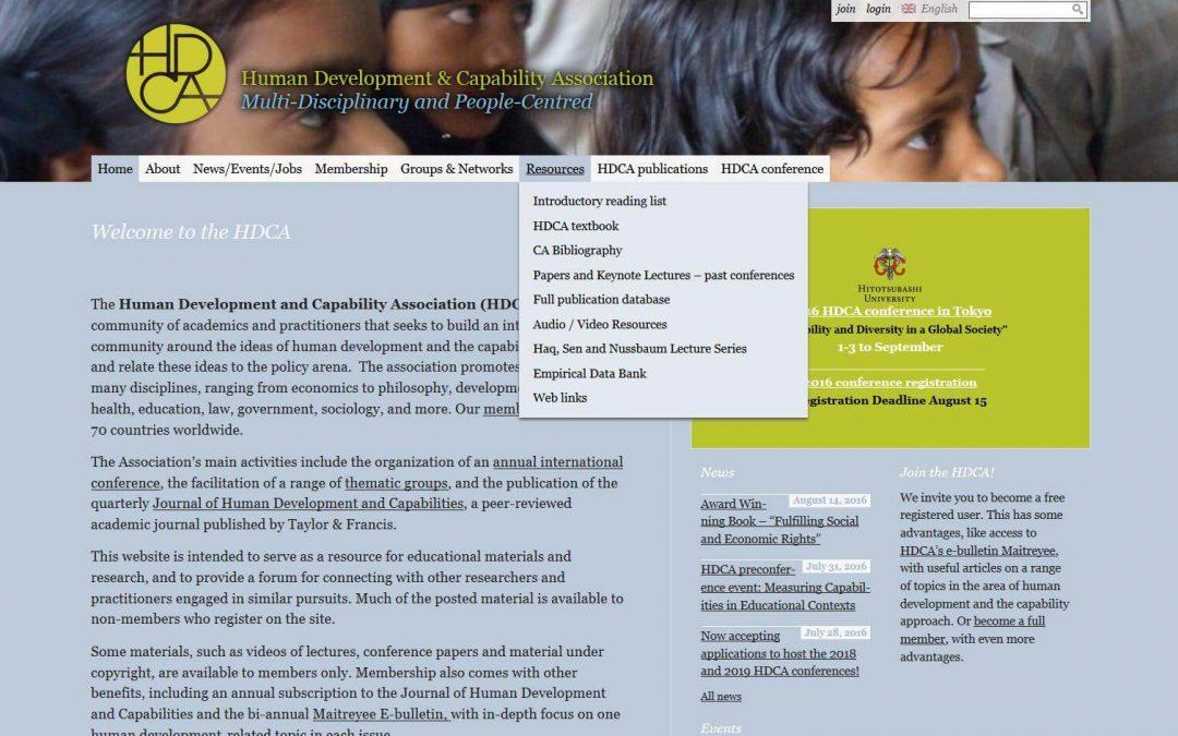 Human Development & Capability Association (2014-2015)